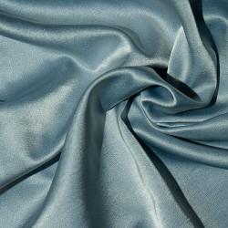 Seiden/Baumwoll-Satin BRESCIA BLUE