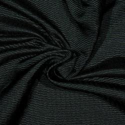 Seide Wolle Piqué FINN BLACK
