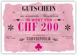 Geschenkgutschein CHF200.-