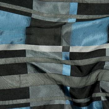 Schottenkaro Seide Organza BUCHAN BLUE