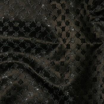 Seide/Polyester-Damast CARNA-BLACK