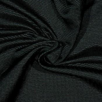 Seiden/Wollpiqué FINN BLACK
