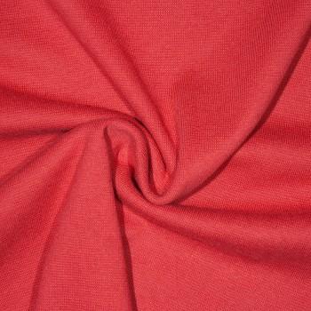 Baumwolle Interlock-Jersey/Bündchenstoff FIRION RED