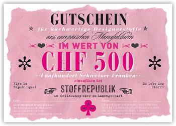 Geschenkgutschein CHF500.-