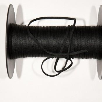 MASKEN-GUMMIBAND, extra weich, ummantelt, schwarz