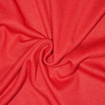 Baumwolle Double-Jersey/Bündchenstoff OLWE RED