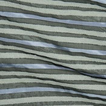 Seide/Acryl/Wolle/Nylon barré ONEGA BLACK/LILA/GREY