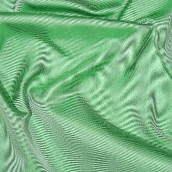 Seidensatin-Rigato REDA GREEN