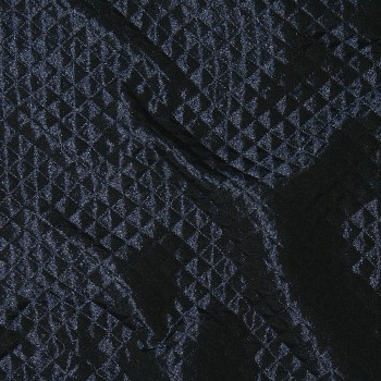 Seide/Polyester-Matelassé REFLET DARK