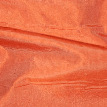 Seide/Leinen Organza RIVA ORANGE/WHITE