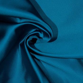 Seidensatin-Duchesse VONNE BLUE/BLACK