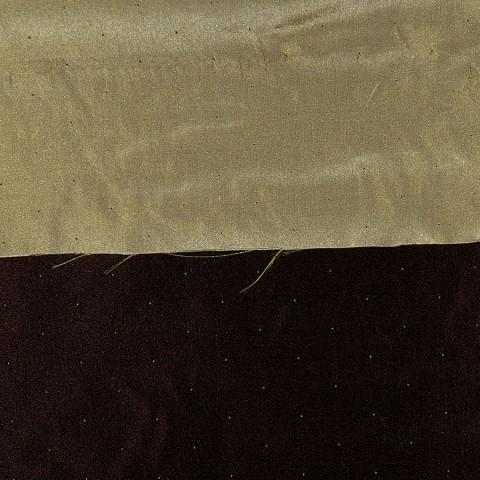 Seidentoile Double ANACO AUBERGINE/GREEN