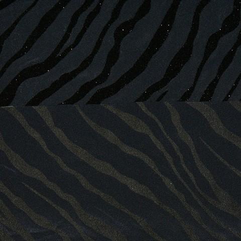 Seide/Viskose-Crêpe de chine mit Flockdruck JAZZ