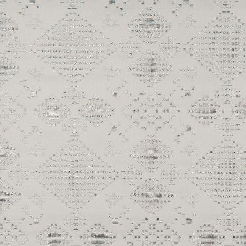 Baumwolljacquard VANGO WHITE/SILVER